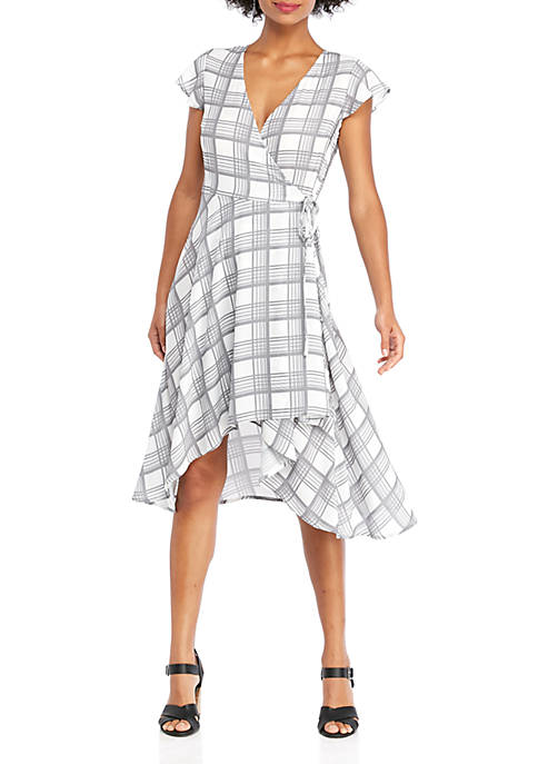 THE LIMITED Flutter Sleeve Surplice Wrap Dress