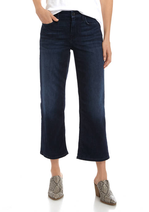 7 For All Mankind® Womens Cropped Wide Leg