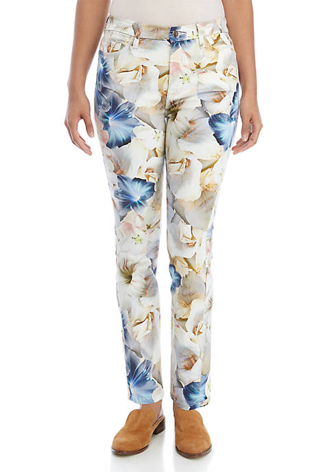 JEN7 by 7 For All Mankind Printed Ankle
