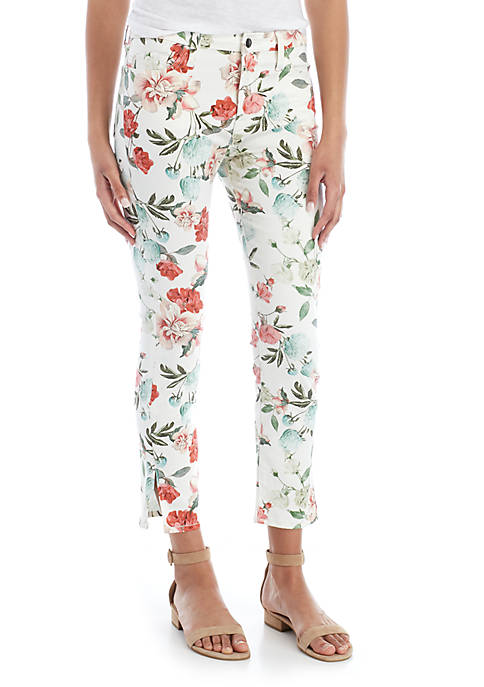 Printed Cropped Skinny Jeans