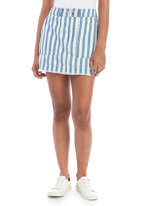 Jack Say It In Stripes Mini Skirt