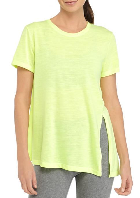 Textured Asymmetrical T-Shirt