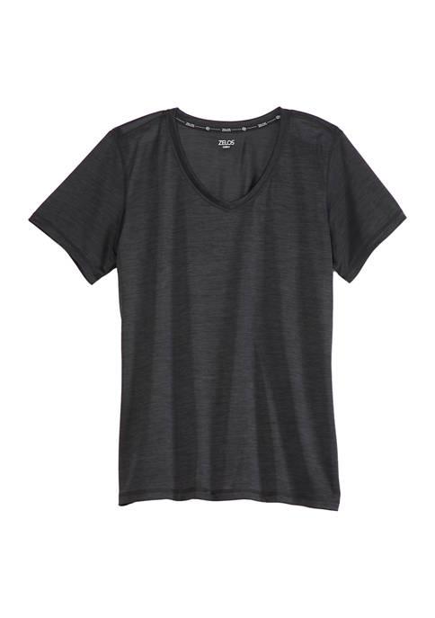 Plus Size Performance V Neck T-Shirt