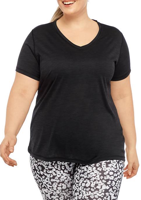Plus Size Performance V-Neck T-Shirt