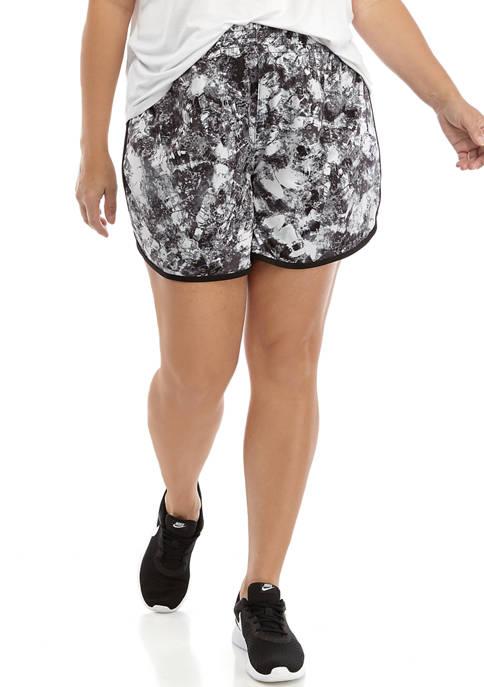 Plus Size Tulip Hem Shorts