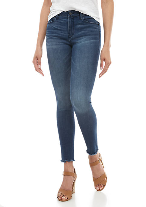 Kaari Blue™ Mid Rise Skinny Jeans with Raw