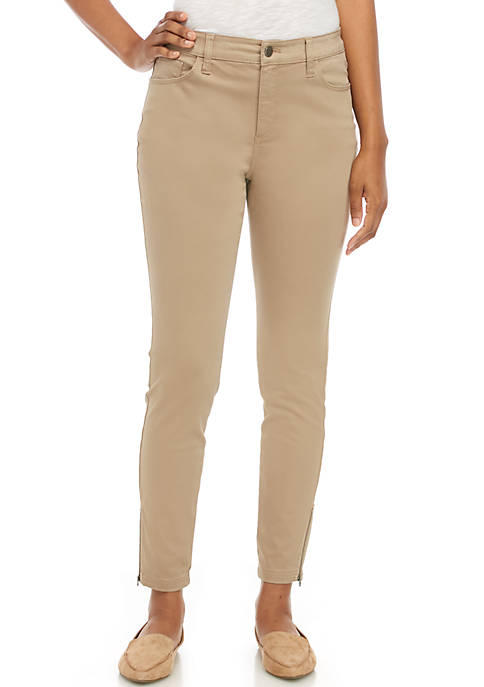Womens Regular Length Sateen Pants