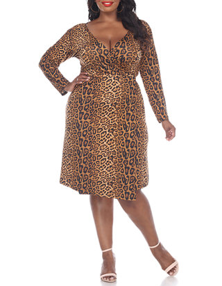 Plus Size Roselle Wrap Dress