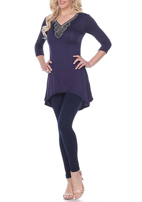 Luna Embellished 3/4 Sleeve Tunic