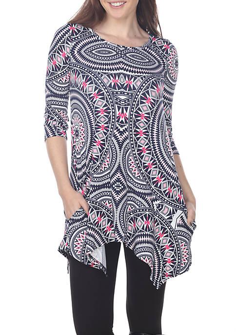 Maji 3/4 Sleeve Printed Tunic