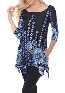 Rella 3/4 Sleeve Printed Tunic