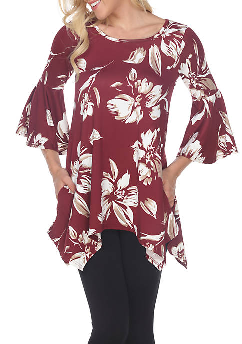 Womens Blanche Bell Sleeve Tunic