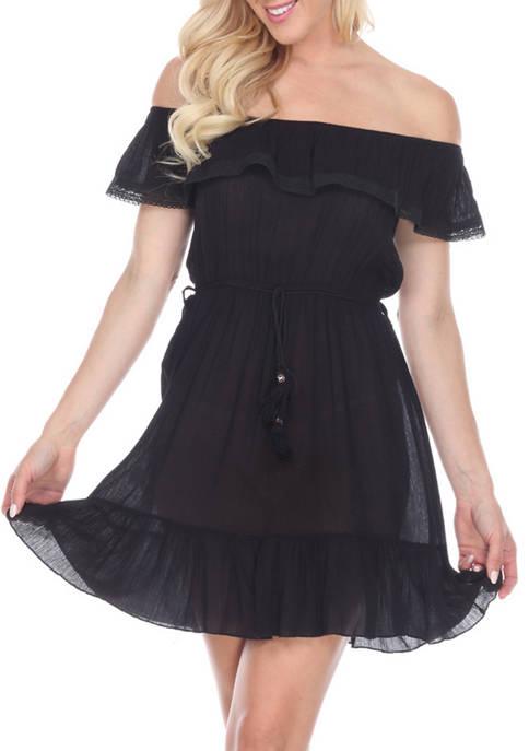 White Mark Off-the-Shoulder Dress