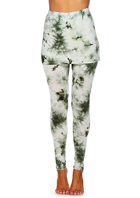 White Mark Womens Tie Dye Skirted Leggings