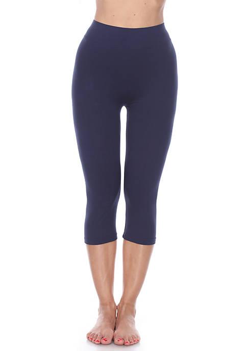 White Mark Womens Super Soft Capri Leggings