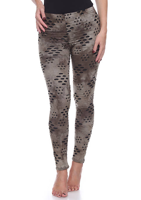 White Mark Womens Distress Leggings