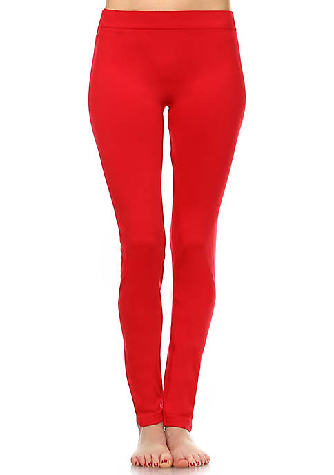 White Mark Womens Solid Leggings
