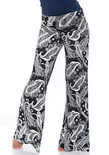 White Mark Printed Palazzo Pants