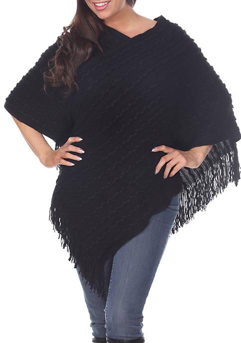 Melisandre Fringe Poncho Sweater