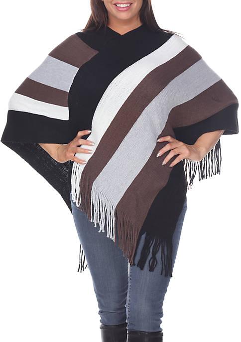 Poncho Sweater with Fringe