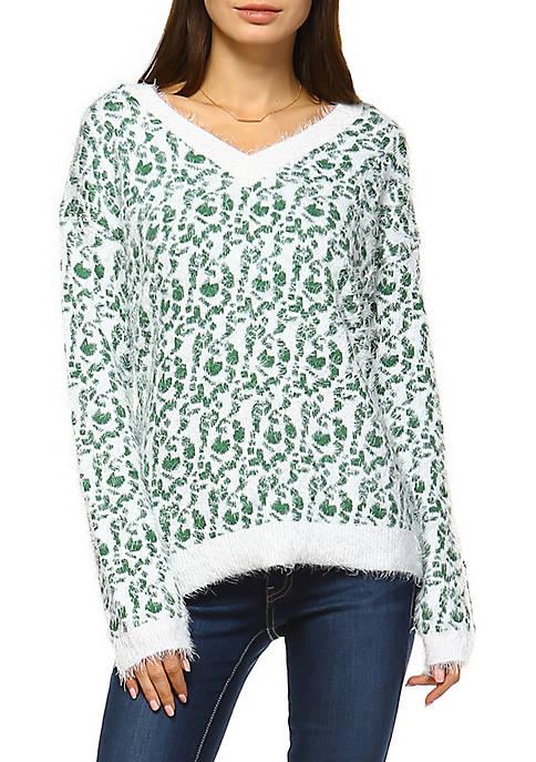 White Mark Leopard Sweater