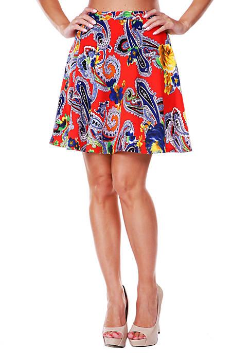 Paisley Flare Skirt