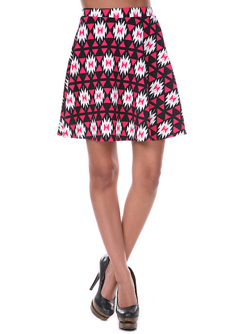 Triangles Flare Skirt