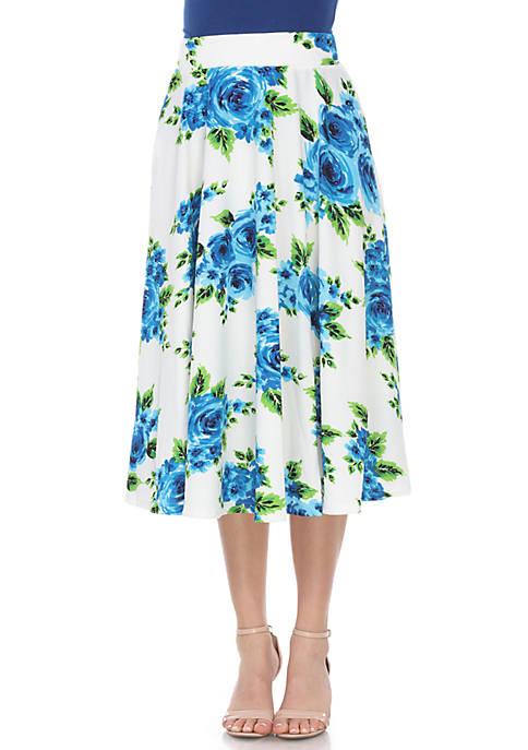 Floral Midi Skirt