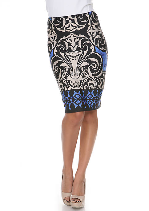 Medallion Pencil Skirt