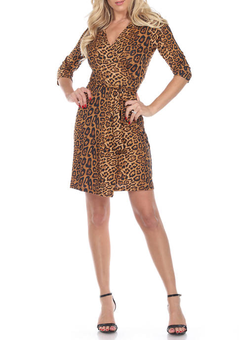 Womens Animal Wrap Dress