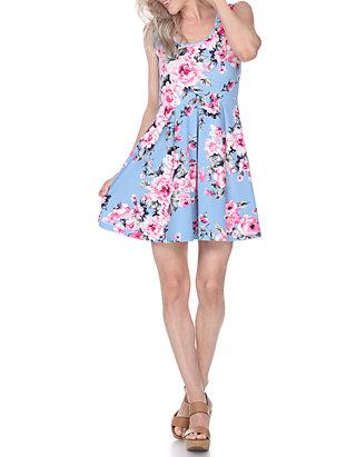 d6548bbada7 White Mark Crystal Floral Print Dress | belk