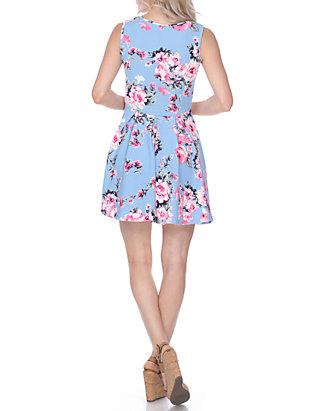 71af7d2be54 White Mark. White Mark Crystal Floral Print Dress