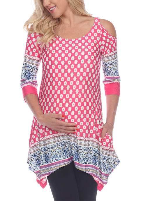 Maternity Cold Shoulder Tunic