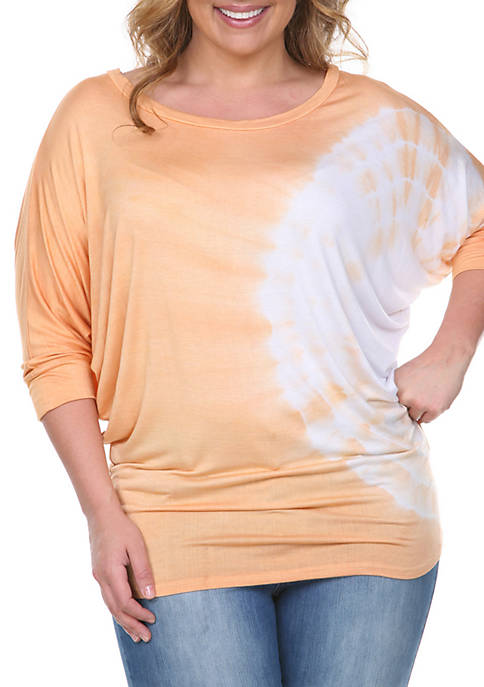 Plus Size Tie Dye Tunic