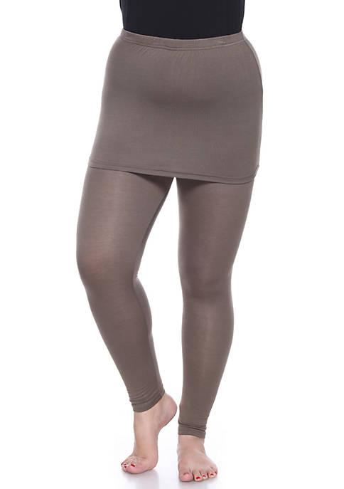 White Mark Plus Size Skirted Leggings
