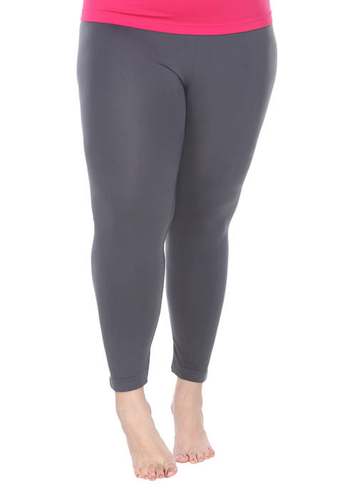 Womens Plus Size Super-Stretch Solid Leggings