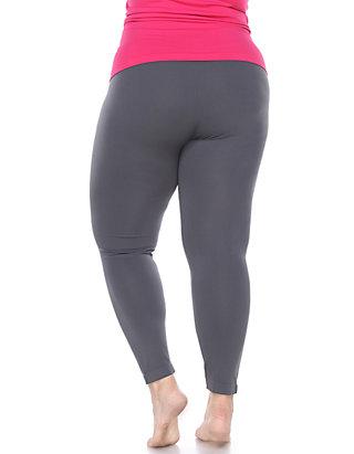 c4bd0cac9657c ... White Mark Womens Plus Size Super-Stretch Solid Leggings ...