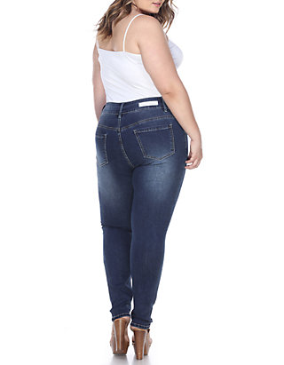be2b9a0ea41 ... White Mark Plus Size Super Stretch Jeans