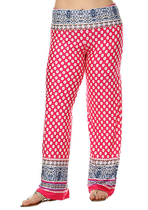 Plus Size Fashion Palazzo Pants