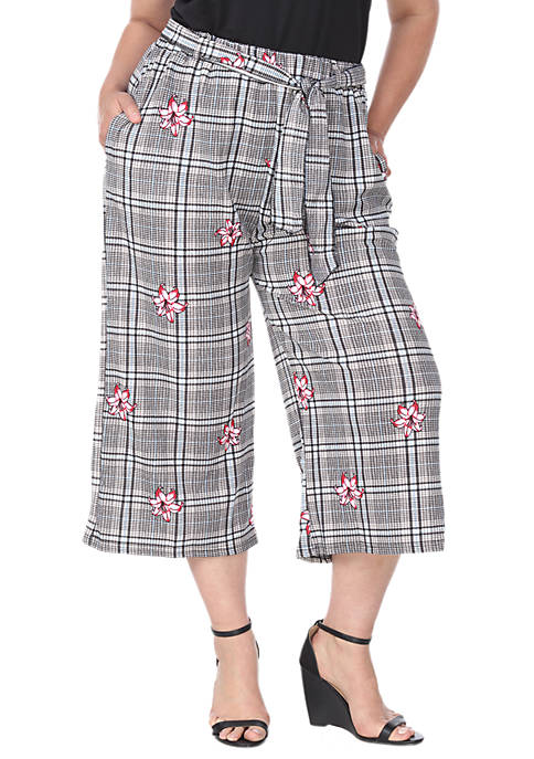 White Mark Plus Size Gaucho Pants