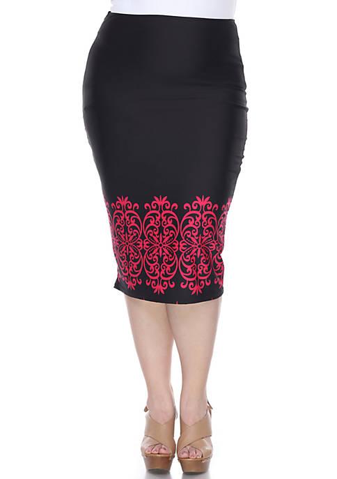 Plus Eden Pencil Skirt