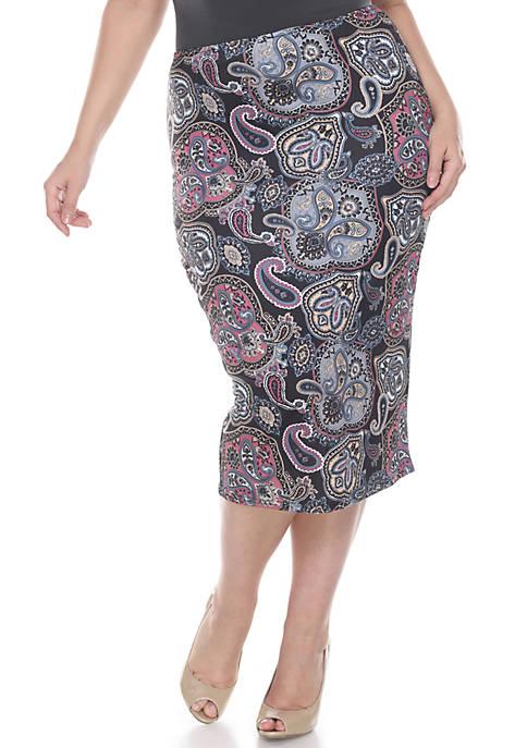 Plus Jordan Pencil Skirt