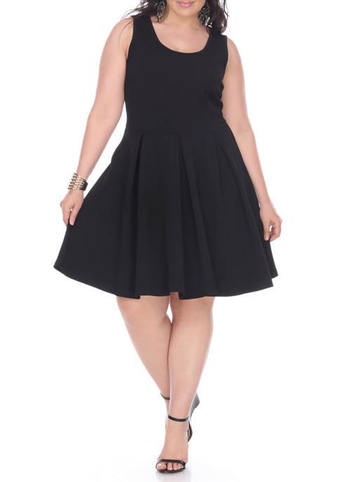 White Mark Plus Size Crystal Dress