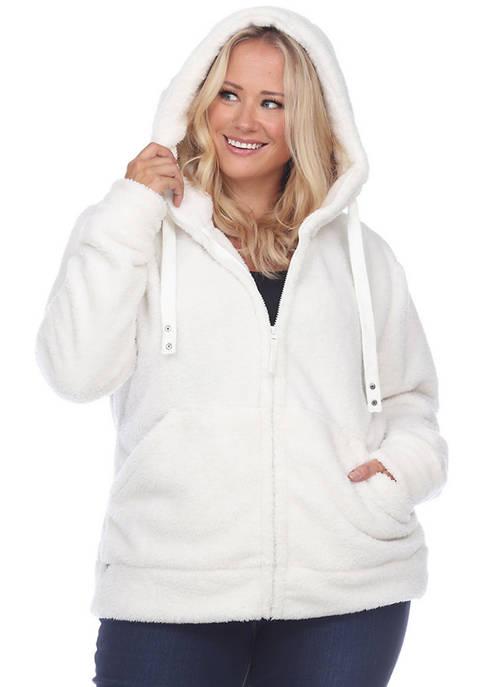 Plus Size Sherpa Jacket