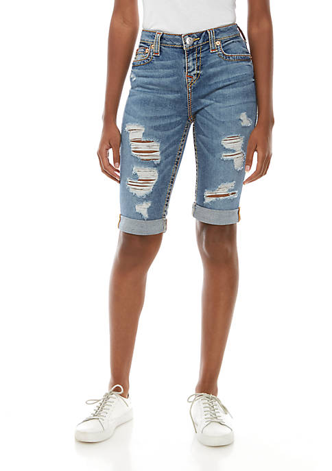 Rily Roll Cuff Destroyed Shorts