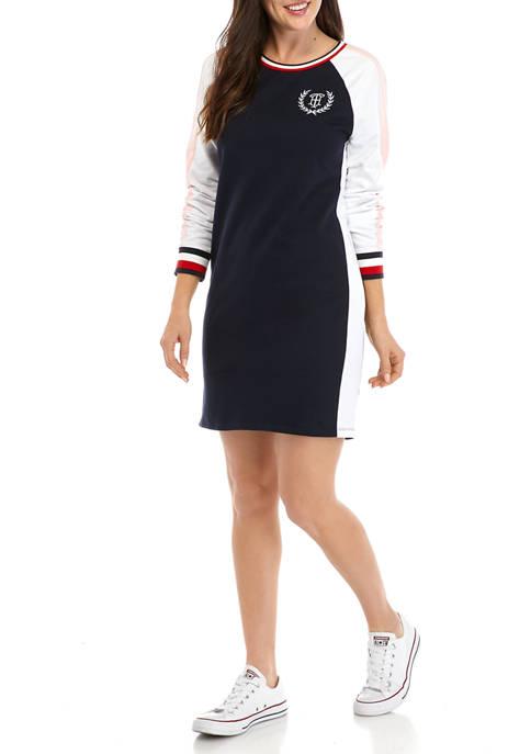 Womens Long Sleeve Trim Dress