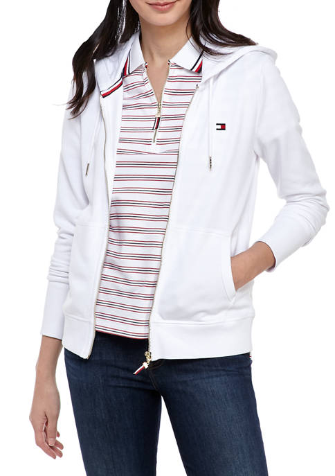 Womens Zippered Flag  Hoodie