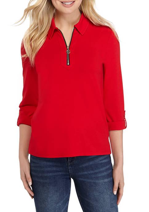 Womens 1/2 Zip Shirt