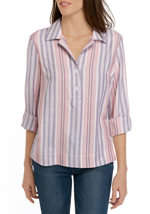 Womens Stripe Popover Shirt