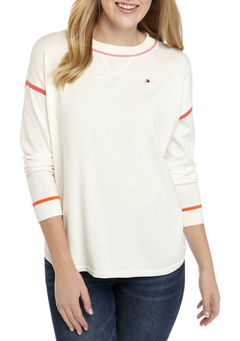 Womens Tipped Sweater